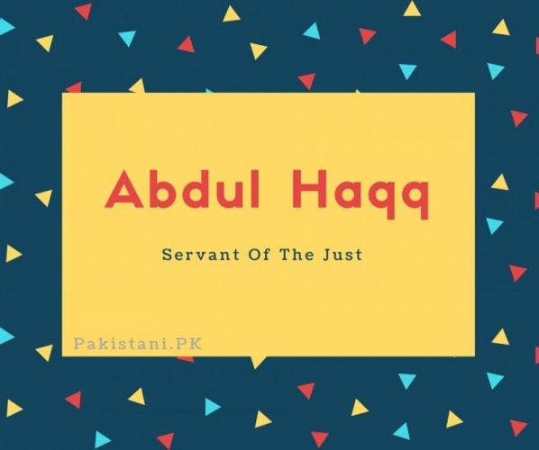 Abdul Haqq