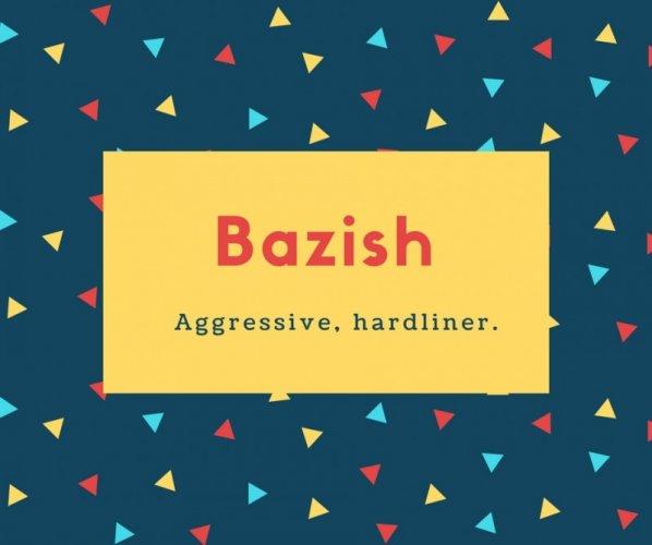 Bazish Name Meaning Aggressive, hardliner