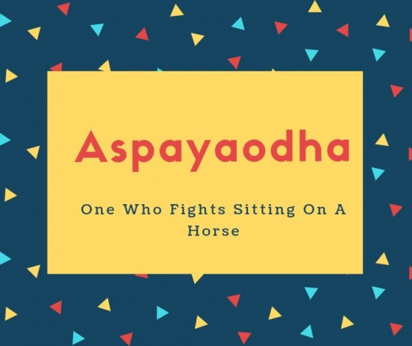 Aspayaodha Name Meaning One Who Fights Sitting On A Horse