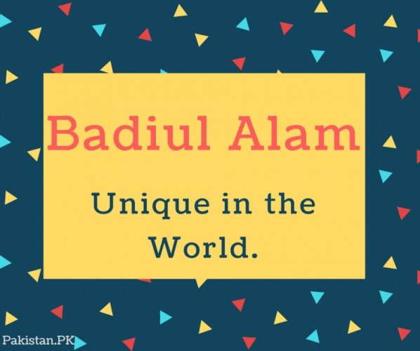 Badiul Alam Name Meaning Unique in the World.