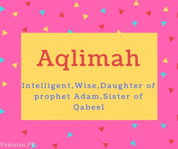 Aqlimah Name Meaning Intelligent,Wise,Daughter of prophet Adam,Sister of Qabeel.