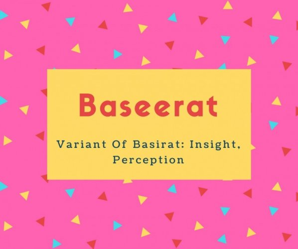 Baseerat Name Meaning Insight, Perception