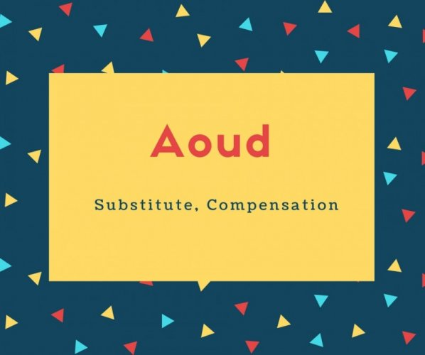 Aoud Name Meaning Substitute, Compensation