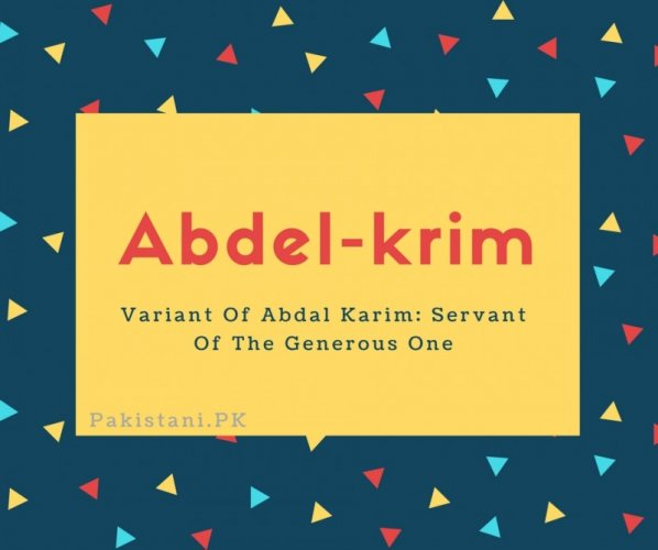 Abdel-krim
