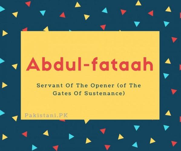Abdul-fataah