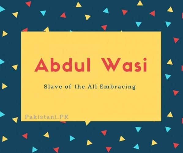 Abdul Wasi