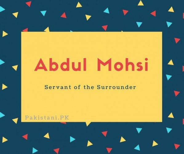 Abdul Mohsi