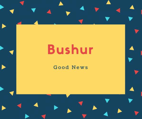 Bushur Name Meaning Good News