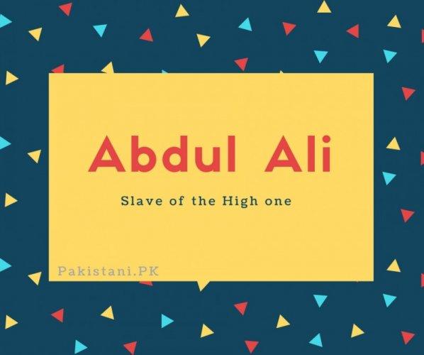Abdul Ali