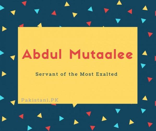 Abdul Mutaalee