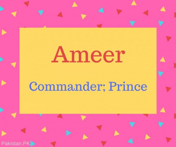 Ameer Name Meaning Commander; Prince