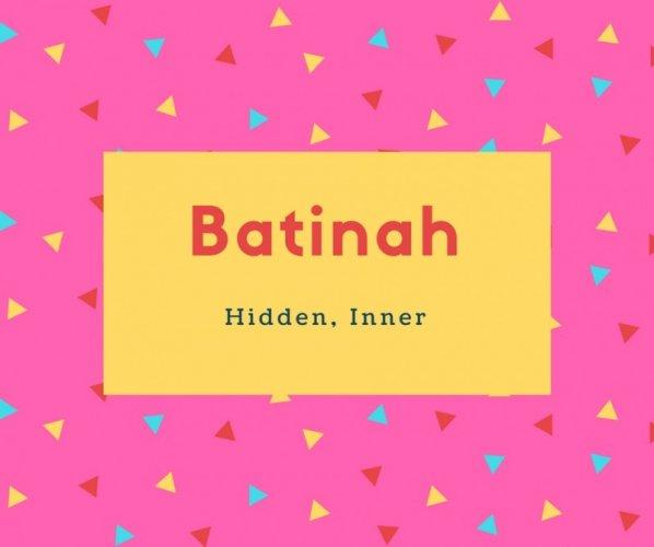 Batinah Name Meaning Hidden, Inner