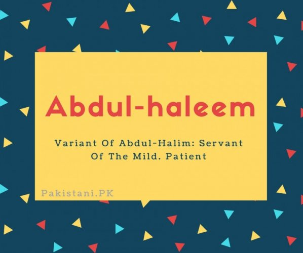 Abdul-haleem