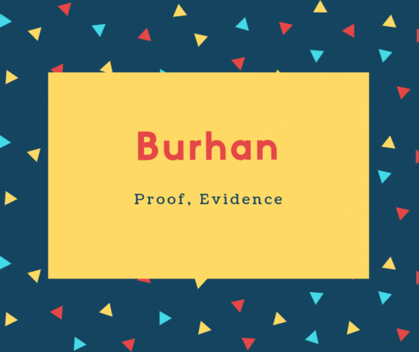 Burhan Name Meaning Proof, Evidence