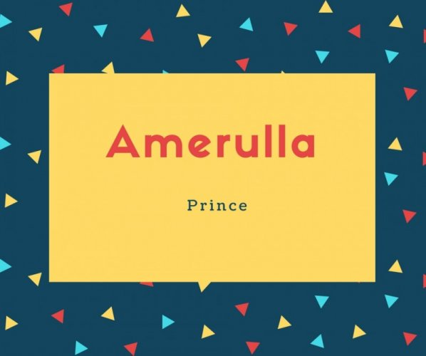 Amerulla Name Meaning Prince