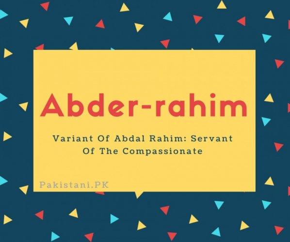 Abder-rahim