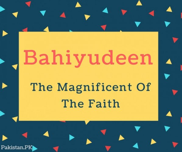 Bahiyudeen Name Meaning The Magnificent Of The Faith