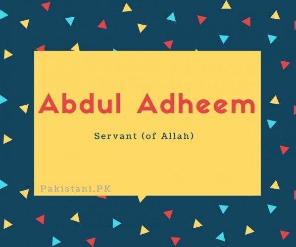 Abdul Adheem