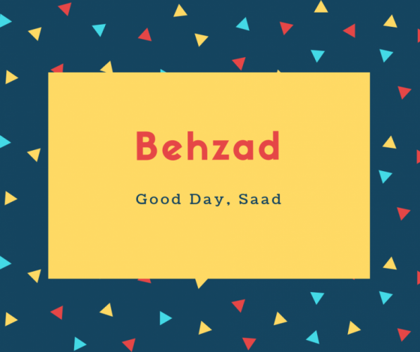 Behzad Name Meaning Designer