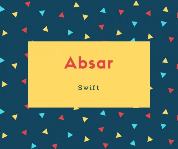 Absar Name Meaning Swift