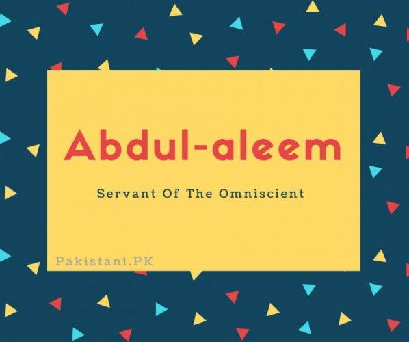Abdul-aleem