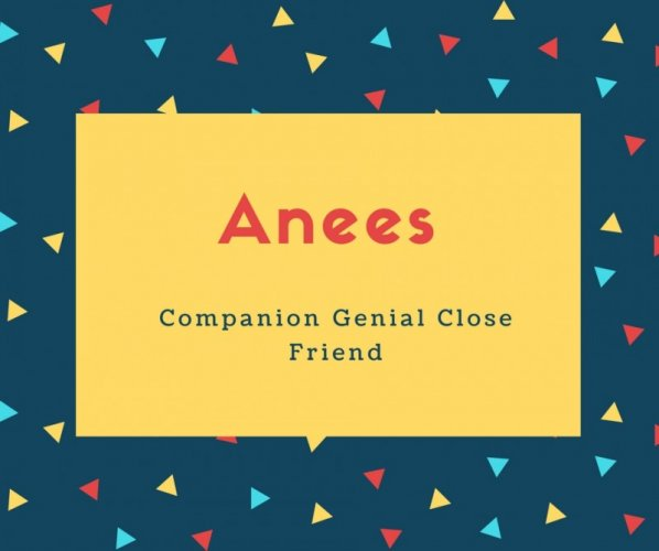 Anees Name Meaning Companion Genial Close Friend
