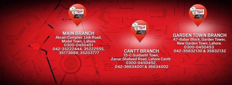 Fine Pizza Lahore Addresses