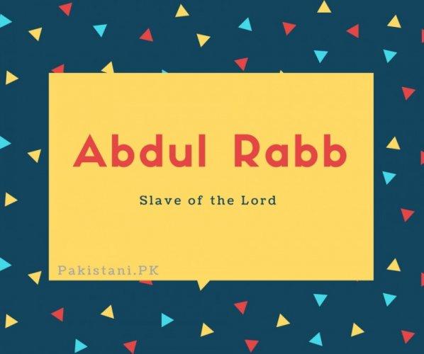 Abdul Rabb