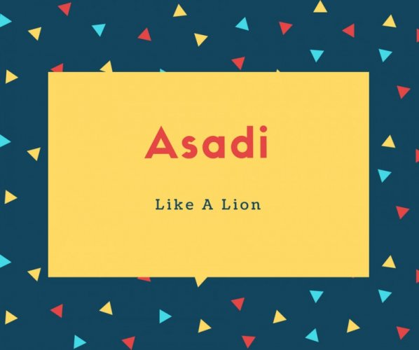 Asadi Name Meaning Like A Lion