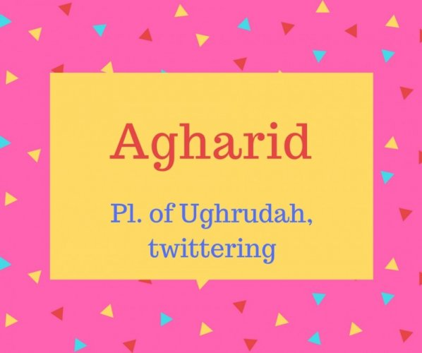 Agharid name meaning Pl. of Ughrudah, twittering