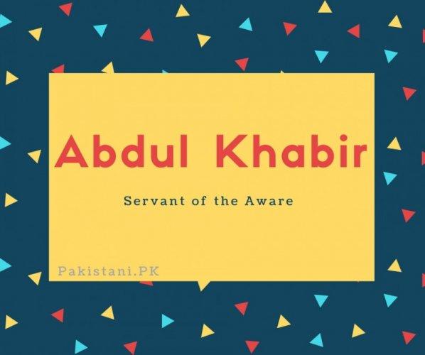Abdul Khabir