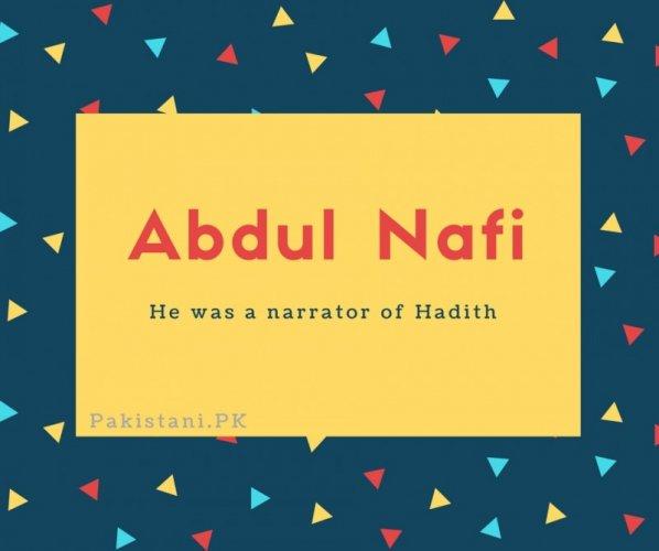 Abdul Nafi