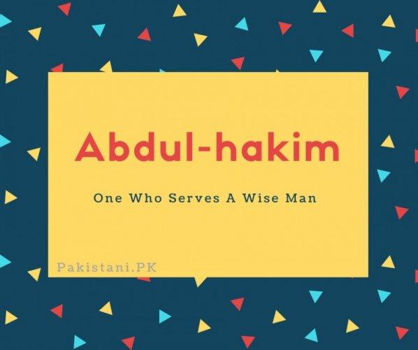 Abdul-hakim