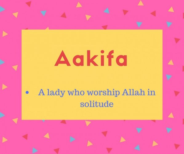 Aakifa Name Meaning
