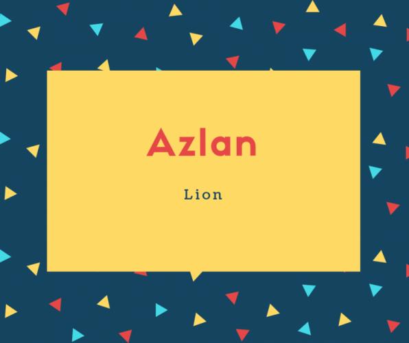 Azlan Name Meaning Lion