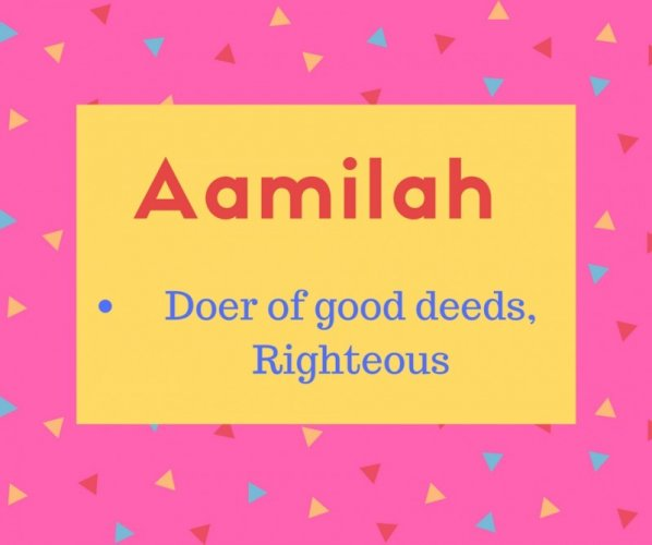 aalimah meaning Doer of good deeds, Righteous