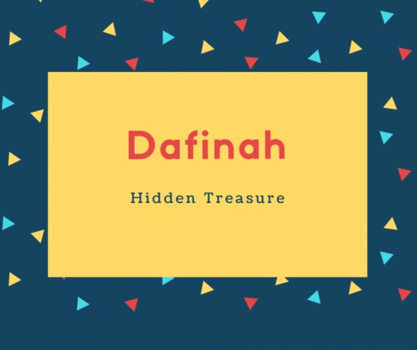 Dafinah Name Meaning Hidden Treasure