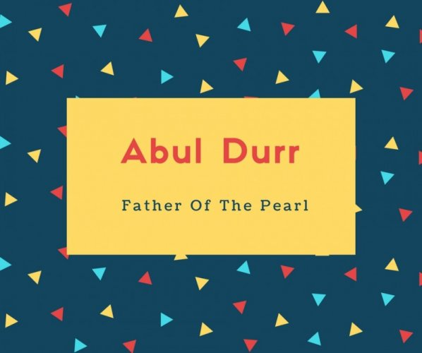 Abul Durr Name Meaning Father Of The Pearl