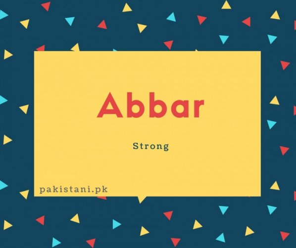 Abbar name meaning Strong