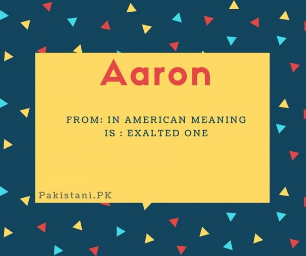 Aaron name meaning in Ameracan meaning:Exalted one.