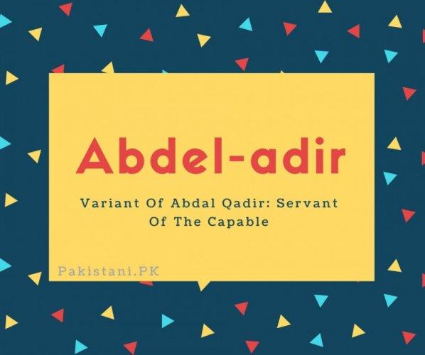 Abdel-adir