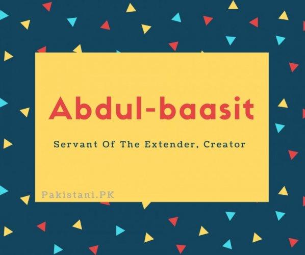 Abdul-baasit