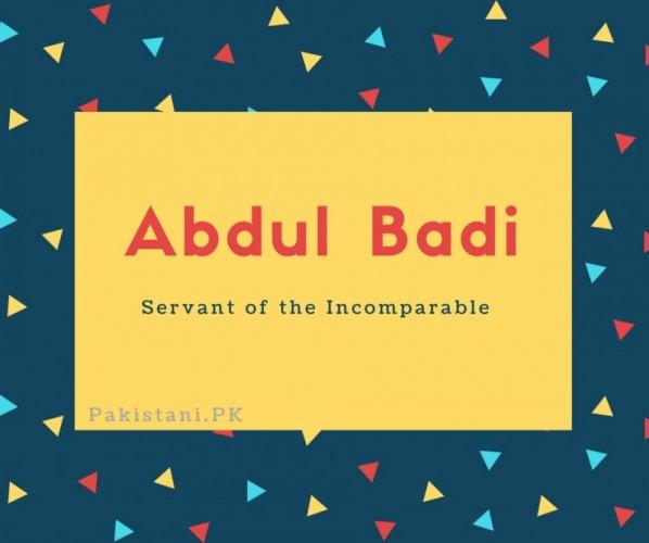 Abdul Badi