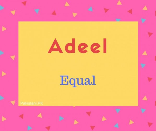 Adeel name meaning Equal.