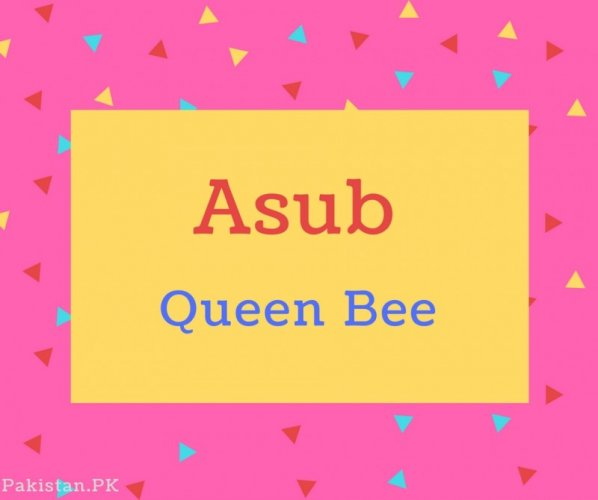 Asub name Meaning Queen Bee.