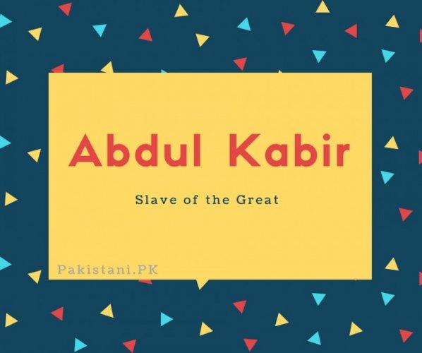 Abdul Kabir