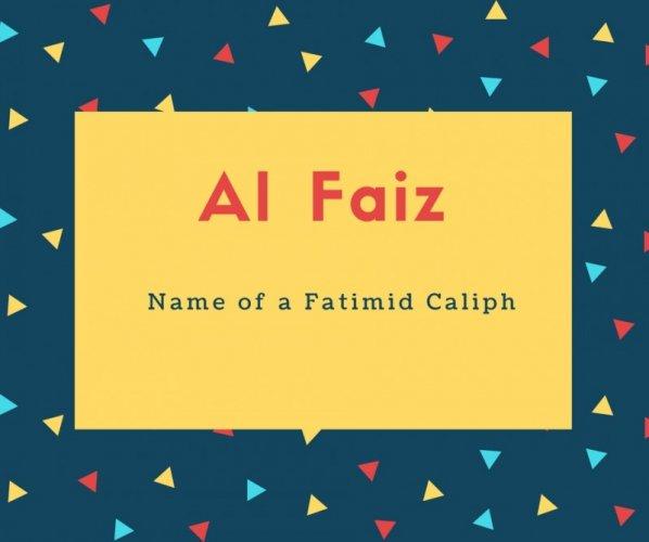 Al Faiz Name Meaning Name of a Fatimid Caliph