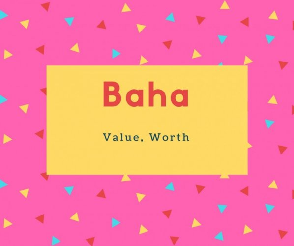 Baha Name Meaning Value, Worth