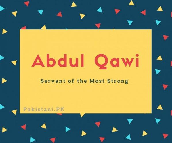 Abdul Qawi