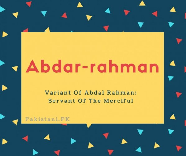 Abdar-rahman